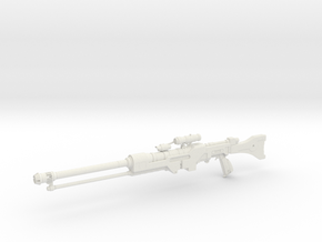 1:12 Miniature Imperial Sniper Rifle in White Natural Versatile Plastic: 1:12