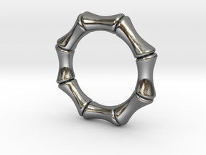 bamboo 5mm Ring in Polished Silver