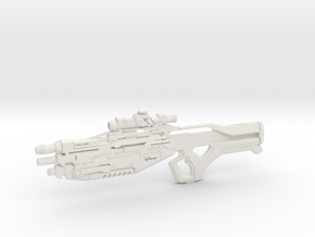 1:12 M-13 Raptor Sniper Rifle - Mass Effect in White Natural Versatile Plastic: 1:12
