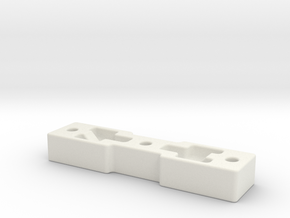 DW_MPF_Reinforcment_Metric_M6 in White Natural Versatile Plastic