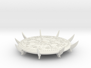 60mm Demon Flying Disc - Scarab in White Natural Versatile Plastic
