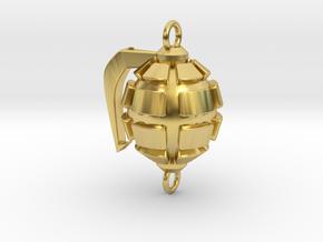 Bakugo's Grenade Gauntlets Charm in Polished Brass