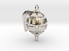 Bakugo's Grenade Gauntlets Charm in Rhodium Plated Brass