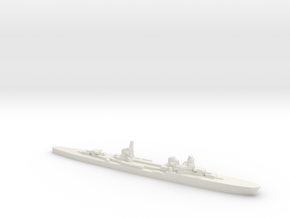 Duca d'Aosta light cruiser 1:2400 WW2 in White Natural Versatile Plastic