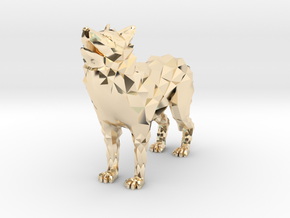 Timber wolf in 14k Gold Plated Brass