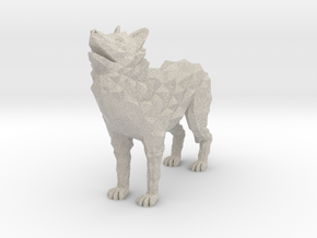 Timber wolf in Natural Sandstone