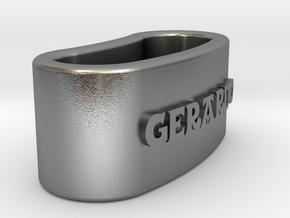 GERARDO napkin ring with daisy in Natural Silver