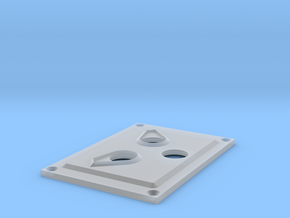 Towing Pin Plate TUG in Smooth Fine Detail Plastic