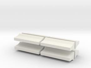 Barrier-FShape-8 in White Natural Versatile Plastic