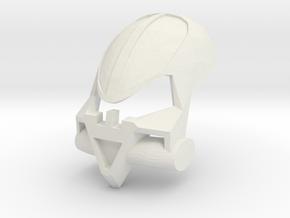 Noble Kanohi Onweku - Mask of Intangibility in White Natural Versatile Plastic
