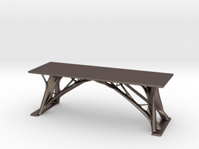 Generative Tree Table in Polished Bronzed-Silver Steel