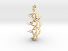 Pendant Twin Helix in 14k Gold Plated Brass