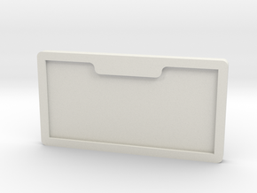 number plate holder in White Natural Versatile Plastic