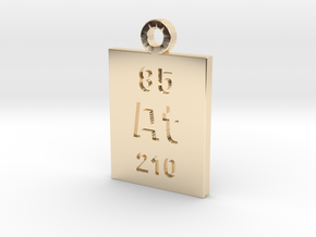 At Periodic Pendant in 14K Yellow Gold