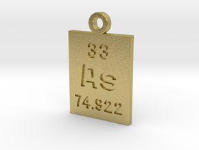 As Periodic Pendant in Natural Brass