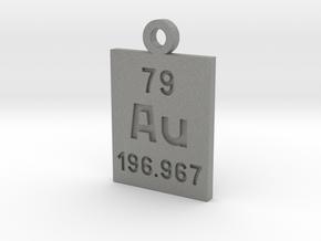 Au Periodic Pendant in Gray PA12