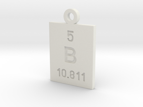 B Periodic Pendant in White Natural Versatile Plastic
