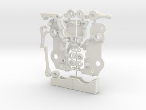 Autoscout Cassette Bot in White Natural Versatile Plastic