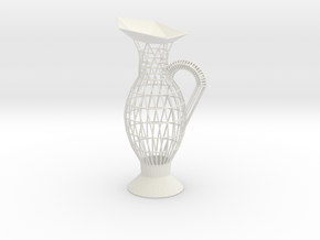 Vase Evo1750 in White Natural Versatile Plastic