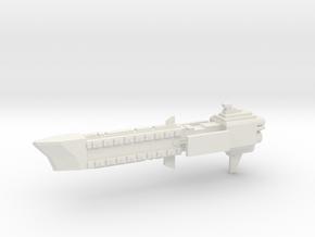 Navy Frigate - Concept 3  in White Natural Versatile Plastic