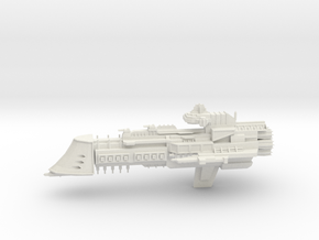 Overlord Class Cruiser in White Natural Versatile Plastic