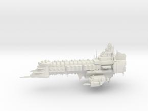 Capital Ship - Concept 1  in White Natural Versatile Plastic
