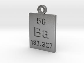 Ba Periodic Pendant in Natural Silver