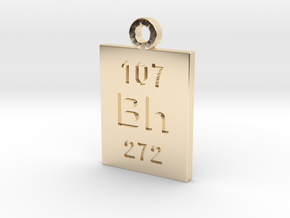 Bh Periodic Pendant in 14K Yellow Gold