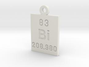 Bi Periodic Pendant in White Natural Versatile Plastic