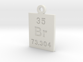Br Periodic Pendant in White Natural Versatile Plastic