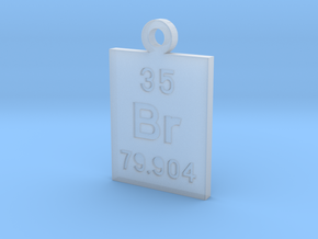 Br Periodic Pendant in Smooth Fine Detail Plastic