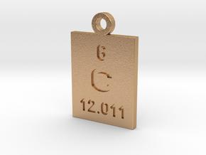 C Periodic Pendant in Natural Bronze
