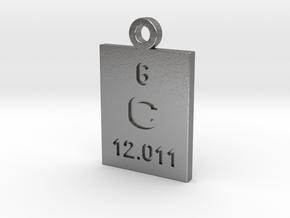 C Periodic Pendant in Natural Silver