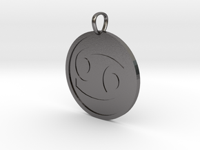 Cancer Medallion in Polished Nickel Steel