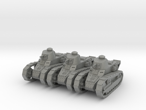 1/144 Renault FT tank (3 pieces) in Gray Professional Plastic