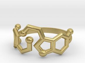 Dopamine + Serotonin Molecule Ring in Natural Brass: 3.5 / 45.25