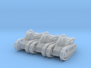 1/160 Renault FT tank x3 in Smooth Fine Detail Plastic