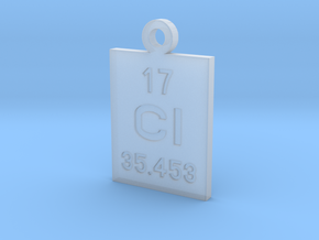 Cl Periodic Pendant in Smooth Fine Detail Plastic