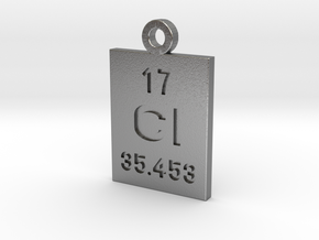 Cl Periodic Pendant in Natural Silver