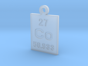 Co Periodic Pendant in Smooth Fine Detail Plastic