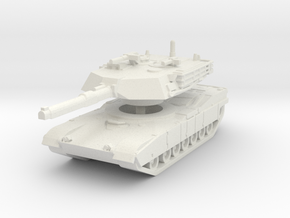 M1A1 Abrams Tank 1/120 in White Natural Versatile Plastic
