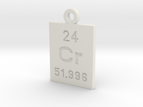 Cr Periodic Pendant in White Natural Versatile Plastic