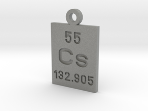 Cs Periodic Pendant in Gray PA12
