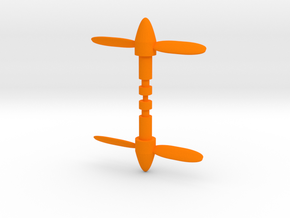 Micro Cessna Missile Propeller in Orange Processed Versatile Plastic: Medium