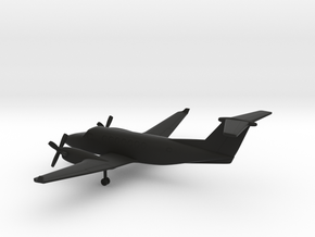Beechcraft Super King Air 350 in Black Natural Versatile Plastic: 1:200