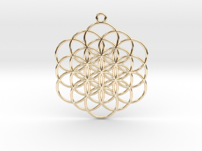 Flower of Life in 14k Gold Plated Brass