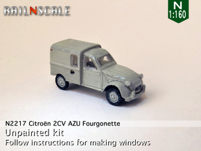 Citroën 2CV AZU 1963-'65 (N 1:160) in Frosted Ultra Detail