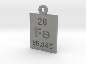 Fe Periodic Pendant in Gray PA12