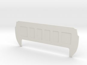 Rear Cab Panel for RC4WD K5 Blazer Body in White Natural Versatile Plastic