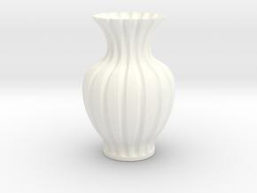 Vase-20 in White Processed Versatile Plastic